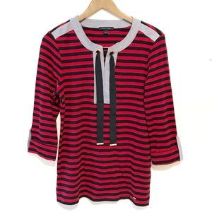 Tommy Hilfiger classic blue and red striped top
